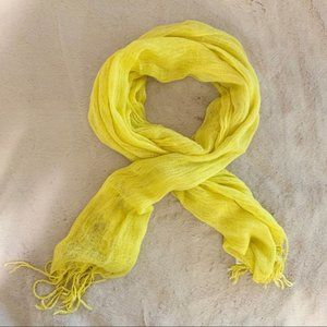 Sunshine Yellow Light Knitted Fashion Scarf